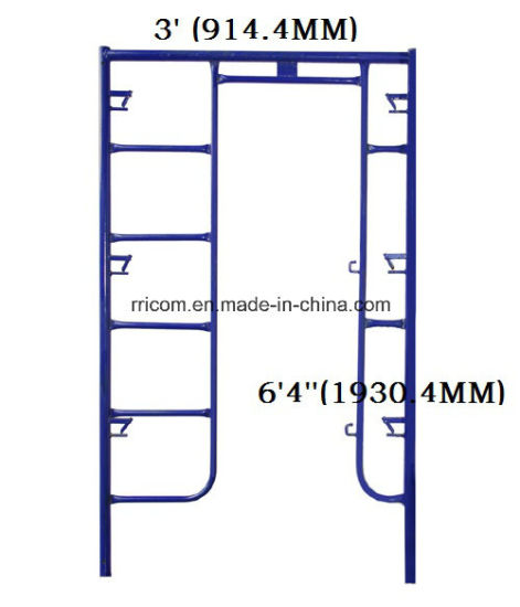 China Powder Coated Canada Lock Scaffolding Frames For 64x3