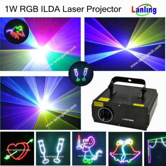 New 1W RGB laser light ILDA interfaces