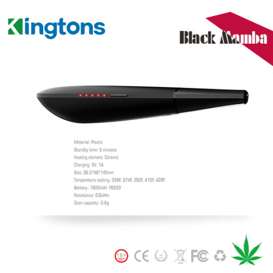 Kingtons Brand Vaporizer Black Mamba Vaporizer Vape Pen Dry Herb pictures & photos
