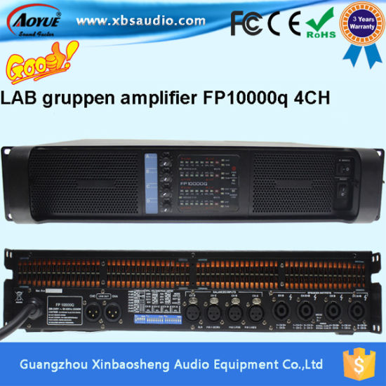 Lab Gruppen Fp10000q Power Amplifier 4 Channel 15 Inch Speaker