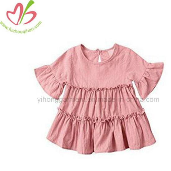 Baby Dress Children's Apparel Soft Cotton Ruffle Girl Dress