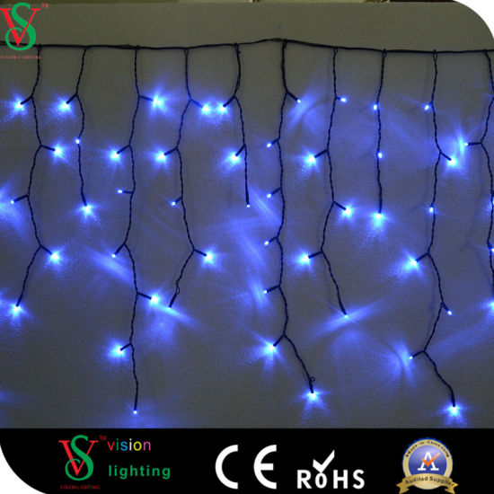 Multicolor Led Icicle Light For Christmas Outdoor House Decoration