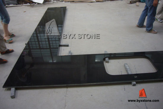 China Customed Absolute Black Granite Kitchen Stone Tile Countertops
