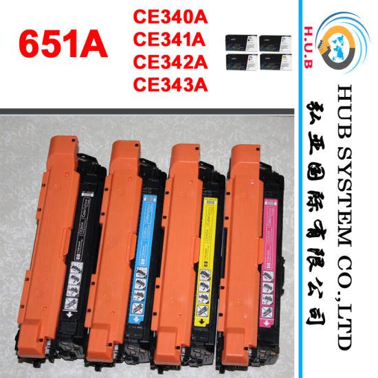 Color Cartridge for HP CE340AC, CE341AC, CE342AC, CE343AC (HP 651A) Laserjet Enterprise 700