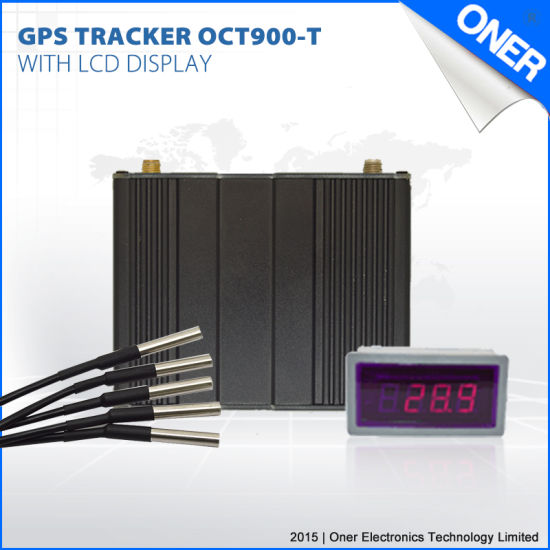 GPS Tracking Device with Temperature Monitoring for Refrigerator Car