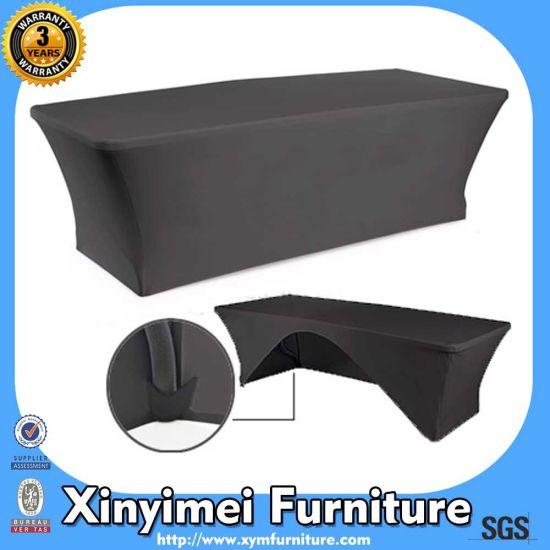 Black Elastic Disposable Fancy Table Cloth (XYM-L28)