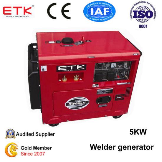 Soundproof Diesel Welder Generator Set with CE&ISO9001