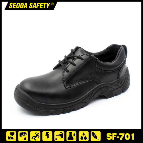 Good Quality Smooth Leather Work Shoes with Toe Cap