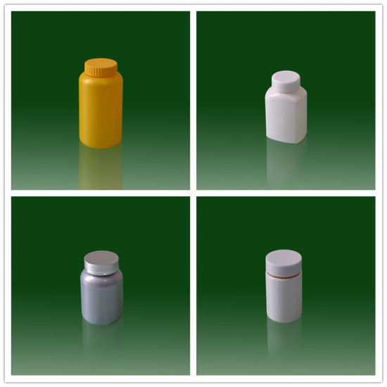 Professional Medicine Plastic Bottle Packaging Pill Bottles with Screw Cap