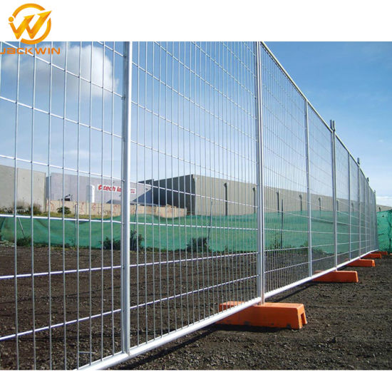 China Construction Site Powder Coated Welded Wire Temporary Fence ...