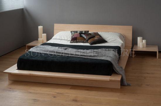 Maple Platform Bed Low Profile Wooden Sz Bf201