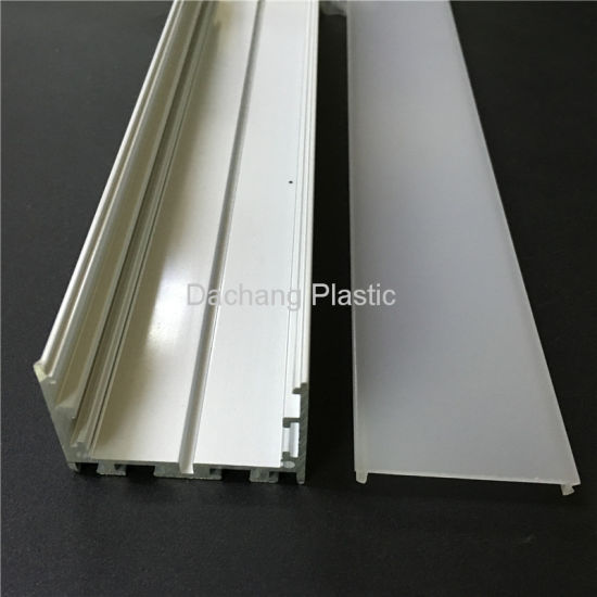 50mm Wide Frosted Polycarbonate Diffuser for LED Aluminum Profile
