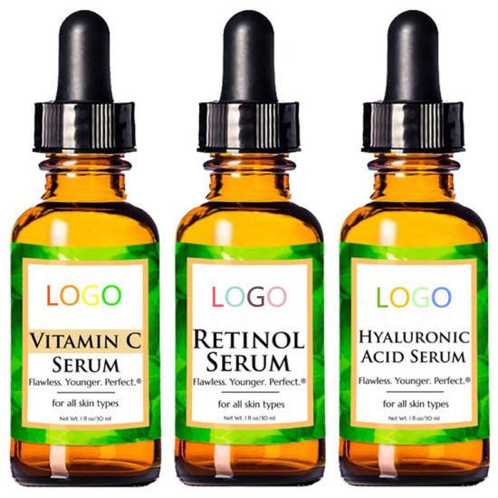Natural Organic Vitamin C Serum Hyaluronic Acid Retinol Hydrating Anti Aging Serum Set
