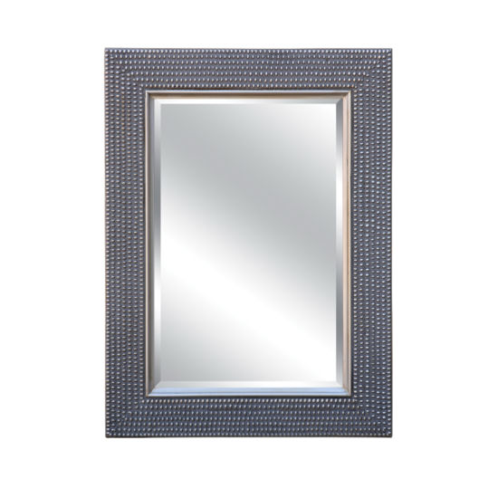 Industrial Style Beaded Frame Wall Hanging Mirror for Home Decoration