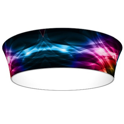 Round Overhead Ceiling Trade Show Sign Sky Circle Hanging Banner