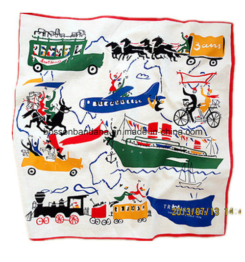Factory Produce Custom Logo Printed Piasley Cotton Square Headband Bandana pictures & photos