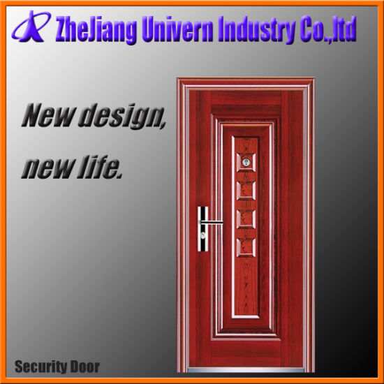 Exterior Security Double Solid Wood Steel Doors pictures & photos