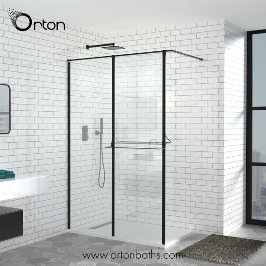 China Extended Shower Gl Panel Walk