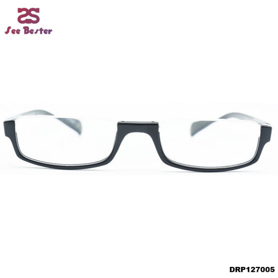 bd306ae566 Top Rimless Half Moon 1 2 Spuare Reader Reading Glasses+1.50 Black Large