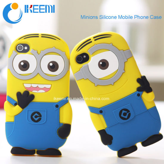 for Samsung /iPhone/LG 3D Silicone Minions Mobile Phone Case pictures & photos