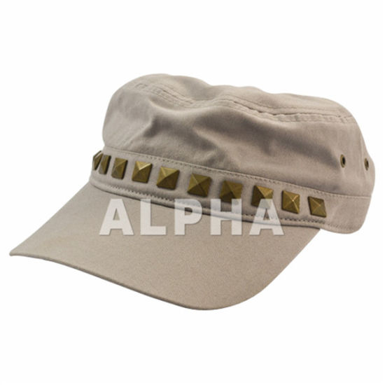 a0385256 China Visor Military Hat Army Cap with Rivet - China Screen Print ...