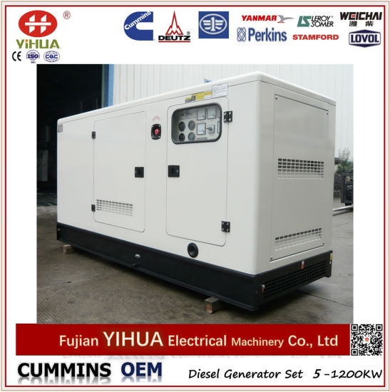 40kw/50kVA Silent Canopy Diesel Generator with Japan Engine Yanmar (5-45kW/6.25-56.25kVA) pictures & photos