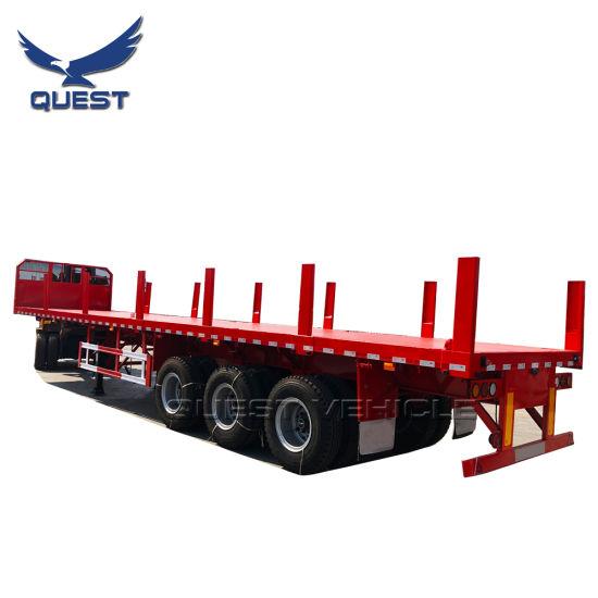 China 3 Axle 40ft Flatbed Semi Trailer Truck Trailer Tractor Trailer China Flatbed Semi Trailer Flatbed Trailer