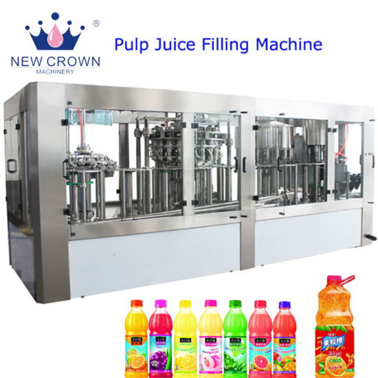 Plastic Bottle Small Scale 2000bph 8 Heads Aloe Starwberry Juice Filling Machine