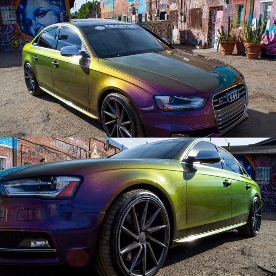 Chameleon Green Car Paint
