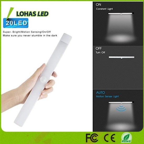 China LED Motion Sensor Lights USB Rechargeable Night Light 2W LED ...