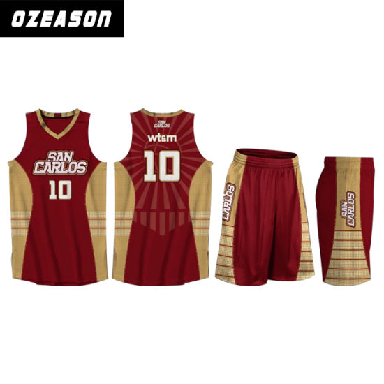57295d714bc3 Design Fashion Breathable Polyester Mens Fitness Sublimated Basketball Wear  (BK035) pictures   photos