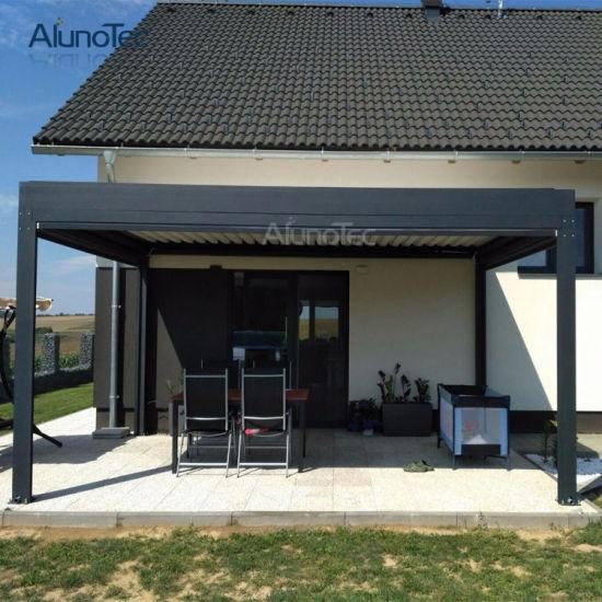 Alunotec Outdoor Waterproof Motorized Pergola Garden with Blinds - China Alunotec Outdoor Waterproof Motorized Pergola Garden With