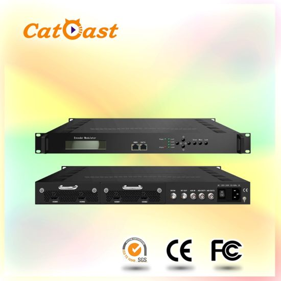 2HDMI To ISDB T RF Modulator CATV HDTV Pictures