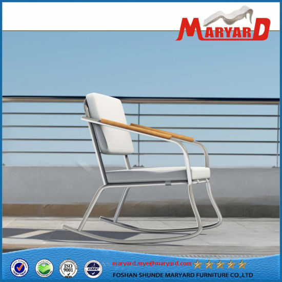 Stainless Steel Rocking Chair For Garden And Terrace