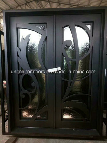 China Modern Design Wrought Iron Front Door China Wrought Iron