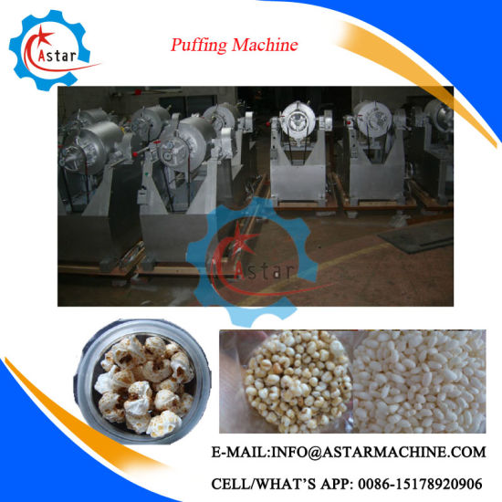 Heat by Gas or Electric Puffed Rice Making Machine pictures & photos