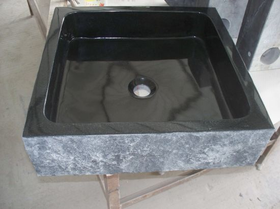 Black Granite Stone Sink Wash Basin for Bathroom & Kitchen pictures & photos