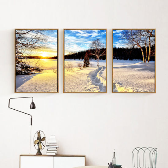 China Framed Wall Art Oil Painting Landscape Stretched Canvas Art ...