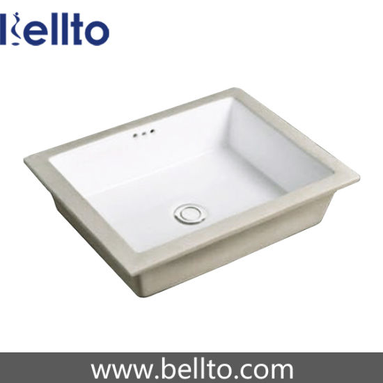 Rectangular ceramic Undermount Sink with Marble Top (225B) pictures & photos