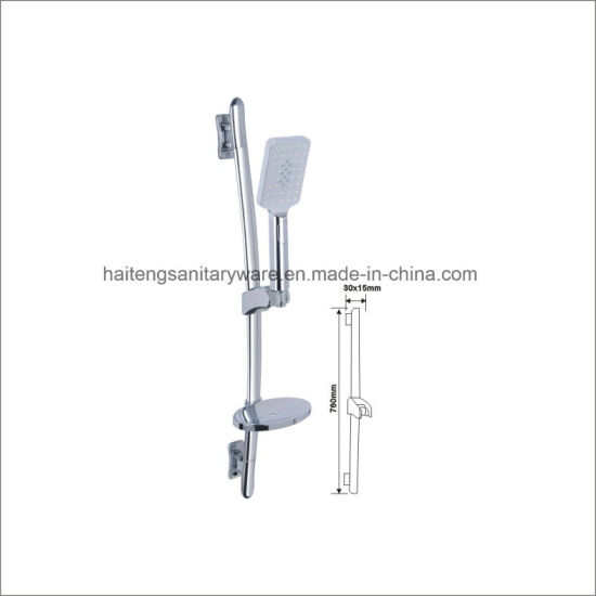 Shower Sliding Bar with Soap Dish