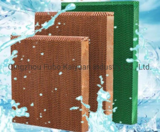 7090/7060/5090 Brow/Green/Yellow/Black Coating Evaporative Cooling Pad/Media for Poultry/Greenhouse/Industrial/Livestock/Chicken House/Pig Farm/Air Cooler Fan