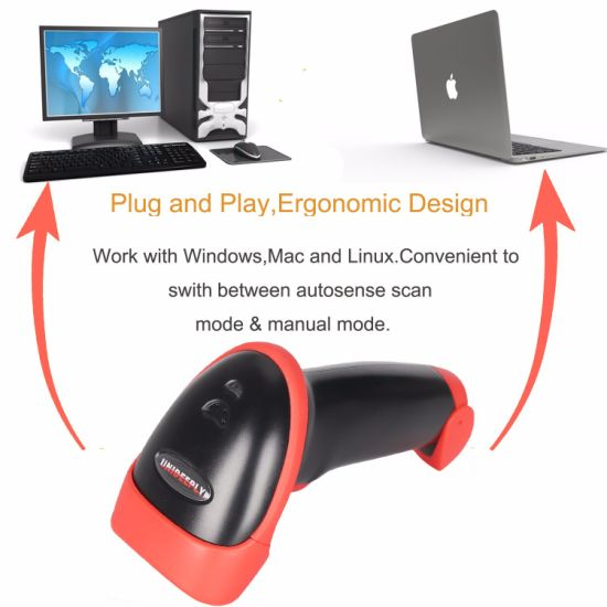 High Speed 300 Scan/Sec, Handheld 1d CCD Barcode Scanner, Ce/FCC/RoHS  Barcode Reader, Read Codes on Cellphone and PC, Mj2816