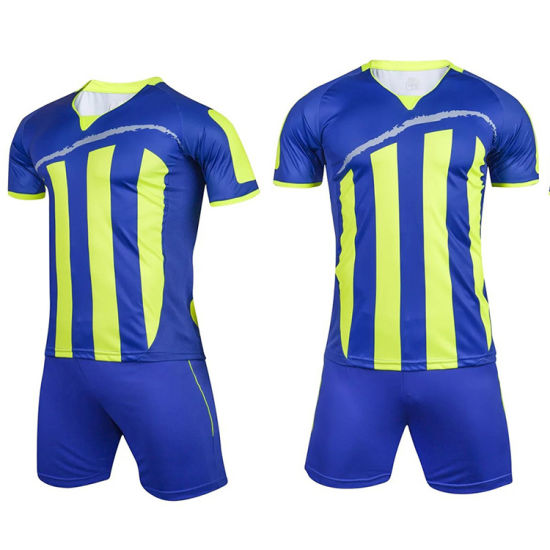 Full Sublimation Blue and Red Customized Design Soccer Set