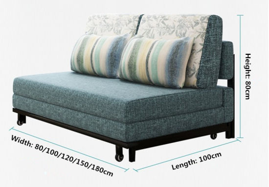 Modern Furniture Corner Sofa Bed Fabric 192 150cm