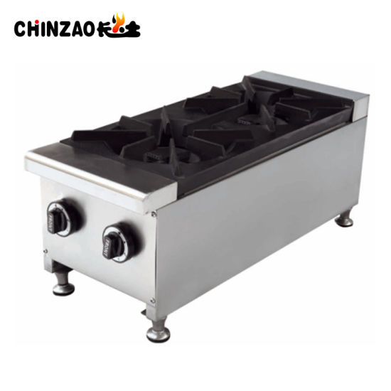 Hot Sales Stainless Steel Counter Top Gas Cooker with 2 Burners