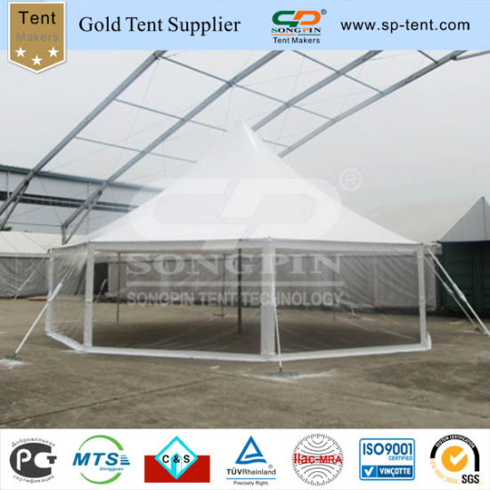 China Octagon Steel Frame Round Peg and Pole Tent with Clear Walls ...