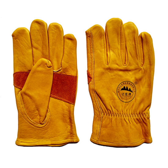Reinforcement Cow Grain Leather Safety Rigger Gloves for Working pictures & photos