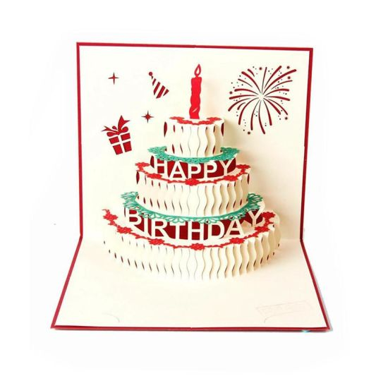 3d Pop Up Birthday Cards Creative Birthday Greeting Card Red