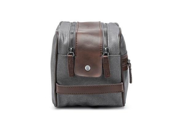 7d53637682a4 Waterproof Canvas Cosmetic Bags Toiletry Bag Dopp Kit Makeup Bag for Men