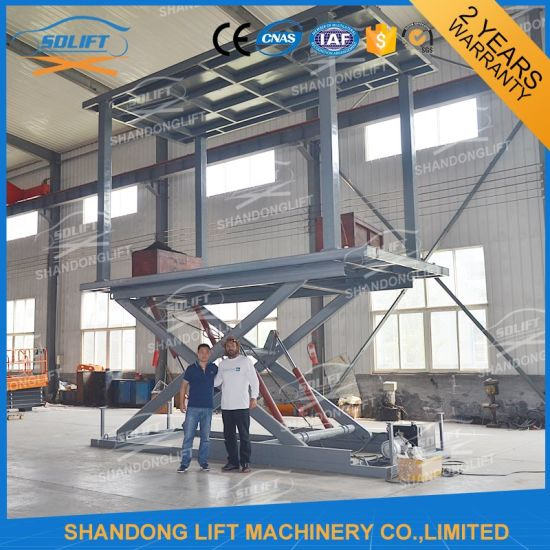 Portable Folding Garage Car Parking Lift Scissor Type Lifting Machine